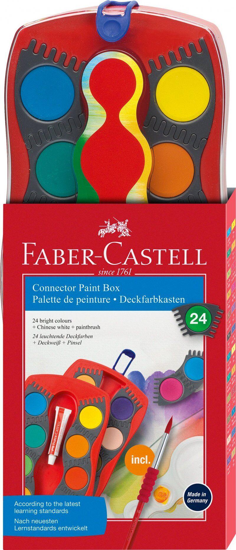 Faber-castell - Connector Farve Box - 24 Stk Vandfarver
