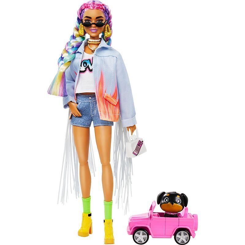Barbie Extra Dukke - Regnbue Fletninger
