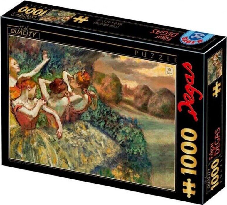 Puslespil - 1000 Brikker - Edgar Degas - 4 Dancers