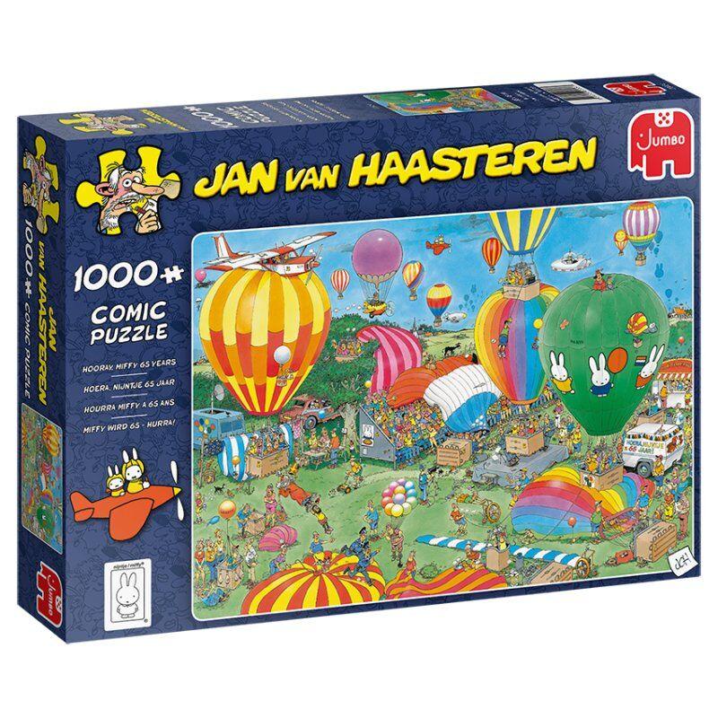 Jan Van Haasteren Puslespil - 1000 Brikker - Miffy 65y