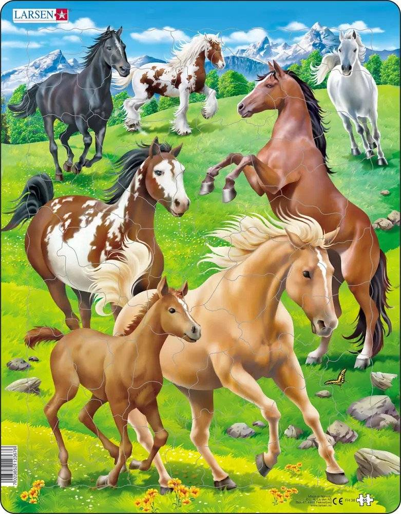 Larsen Heste Puslespil Med 65 Brikker