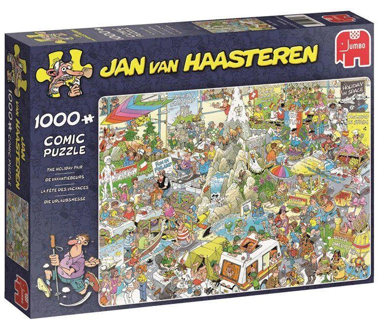 Jan Van Haasteren Puslespil - 1000 Brikker - The Holiday Fair