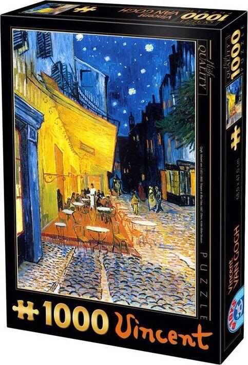 Vincent Puslespil Med 1000 Brikker - Vincent Van Gogh - Café