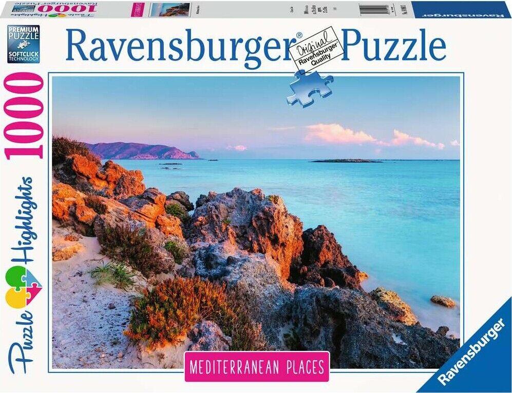Ravensburger Puslespil - 1000 Brikker - Grækenland Ved Middelhavet