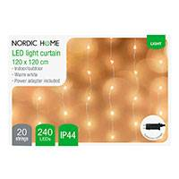 LED Gardin lyskæde udendørs (120x120cm) Nordic Home