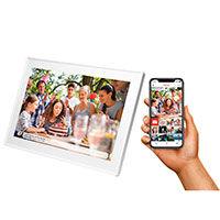 FRAMEO fotoramme 10tm Slim (Touchskærm og Push) Hvid