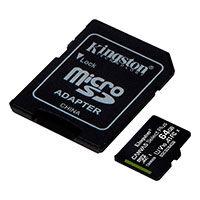 Micro SDXC Kort 64GB V10 m/adapter (UHS-I) Kingston - 3-Pack