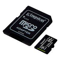 Micro SDXC Kort 64GB V10 m/adapter (UHS-I) Kingston - 2-Pack