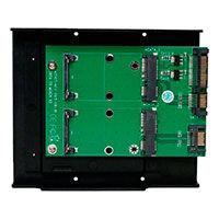 2xSATA til 2xmSATA adapter (2,5/3,5tm) Deltaco