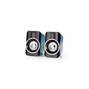 USB højttalere til PC Gaming (2x15W) Sort/Sølv - Nedis