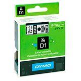Dymo D1 tape 19mm - Sort på Hvid tape - 7m (Original)