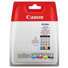 Canon CLI 571 combo pack 4 stk blækpatron BK/C/M/Y 28 ml