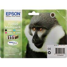 Epson T0895 CMYK (T0891/T0892/T0893/T0894), Sampak 4 stk Blækpatron,