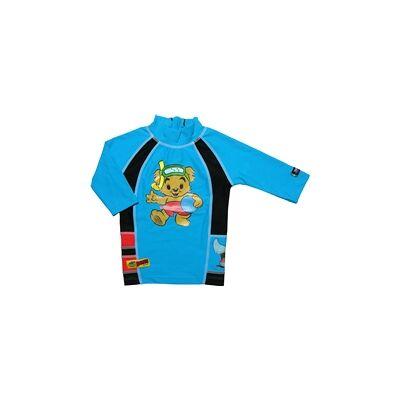 Swimpy UV-bluse Bamse Blå S - Børnetøj - Swimpy