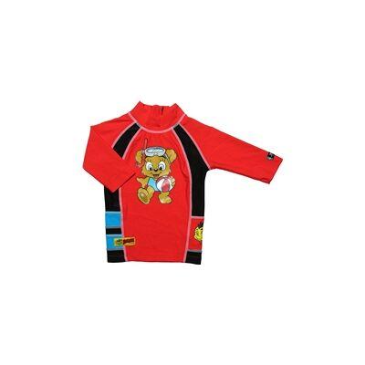 Swimpy UV-bluse Bamse Rød S - Børnetøj - Swimpy