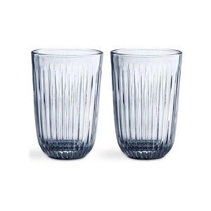 Kähler Hammershøi Vandglas 33 cl Pakke med 2 stk. indigo blå