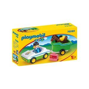 Playmobil 70181 Playmobil 1.2.3 Bil med Hestetrailer