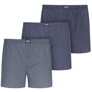 Jockey 3-pak Woven Soft Poplin Boxer Shorts 3XL-6XL - Navy-2 * Kampagne *