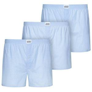 Jockey 3-pak Woven Soft Poplin Boxer Shorts 3XL-6XL - Lightblue * Kampagne *