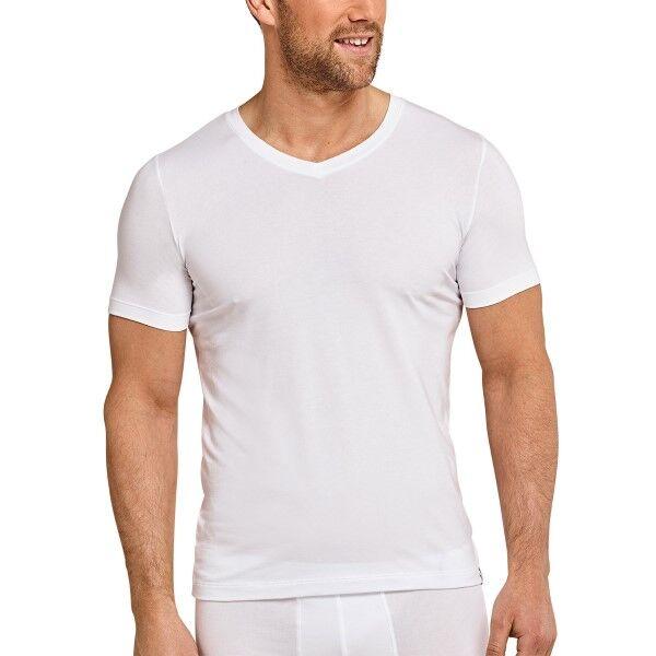 Schiesser Long Life Soft Shirt Short Sleeve V-neck - White * Kampagne *