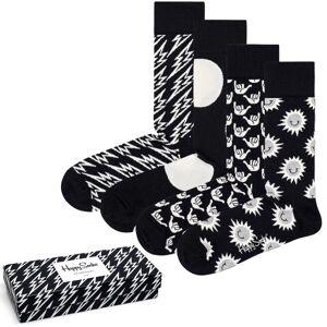 Happy socks 4-pak Black and White Gift Box - Mixed * Kampagne *