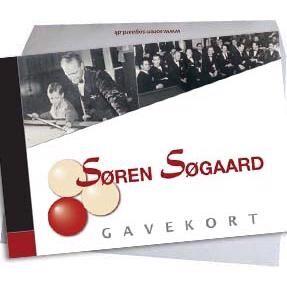 Kr. 800,- gavekort t/ Søren Søgaard A/S