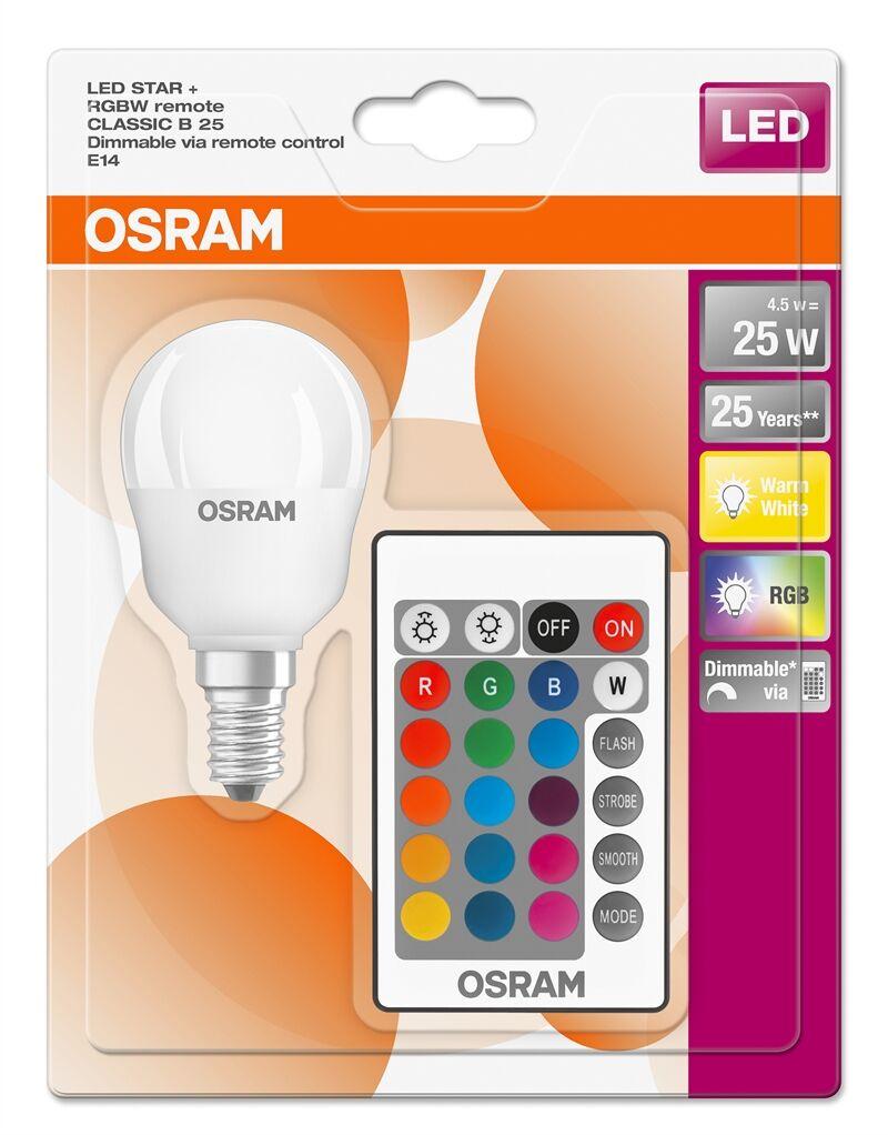 Osram 045712 Led Rgbw Remote Krone 5w=25w E14