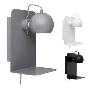 BALL Wall væglampe med USB stik sort