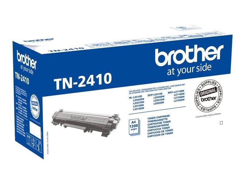 Brother TN 2410 BK Lasertoner – TN2410  – Sort 1200 sider