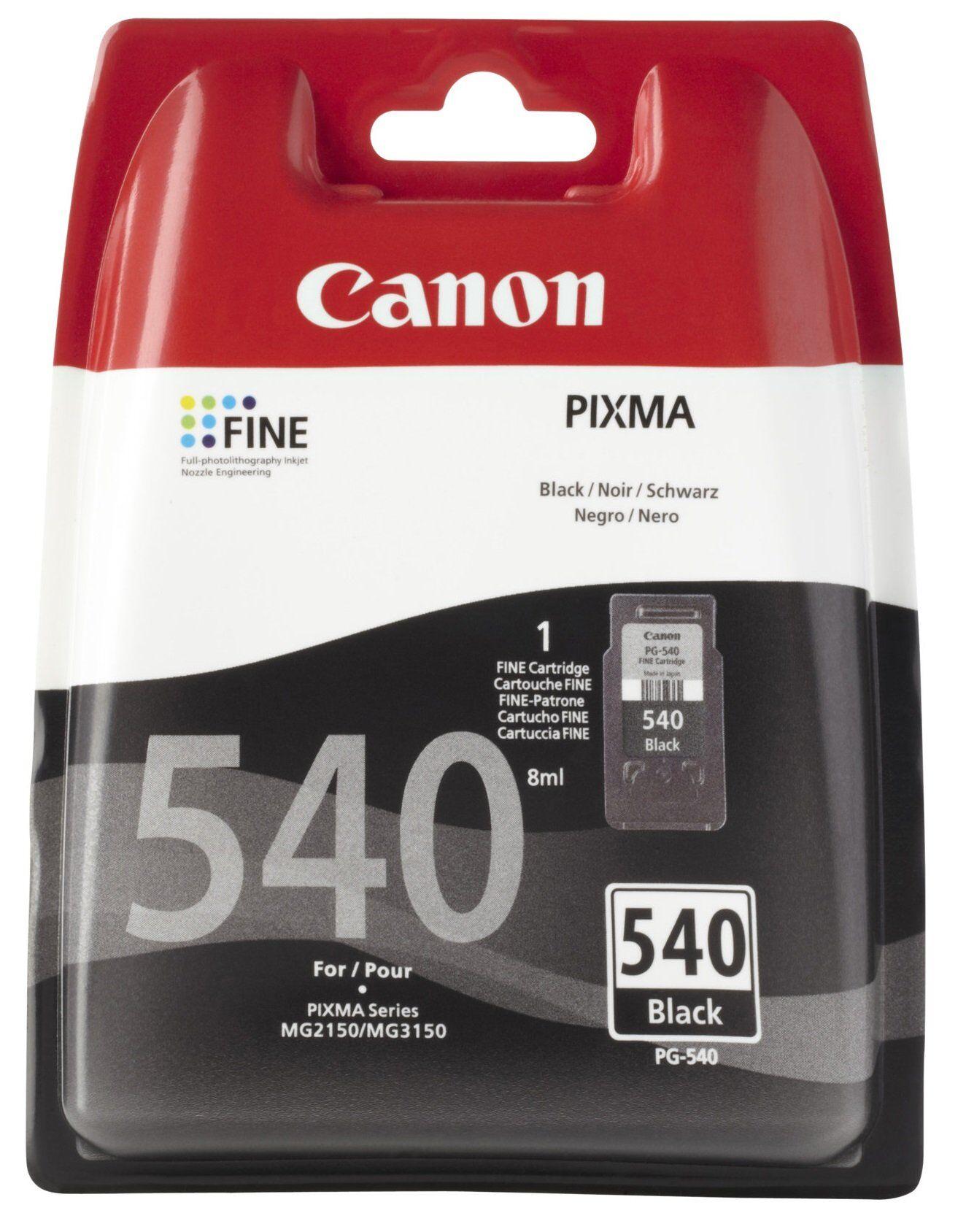Canon PG 540 BK (5225B005) sort blækpatron,