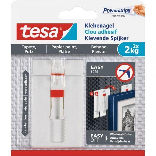 Tesa - Justerbart Klæbesøm Til Tapet Og Gips (2 Kg) - 2 Stk.