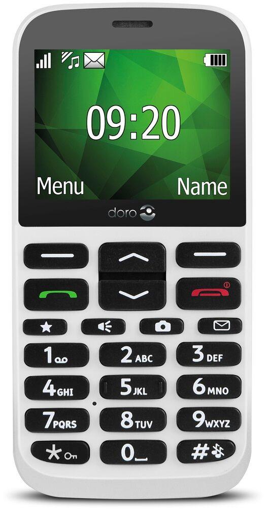 """Doro 1372 Seniortelefon - 2.4"""" - Hvid"""