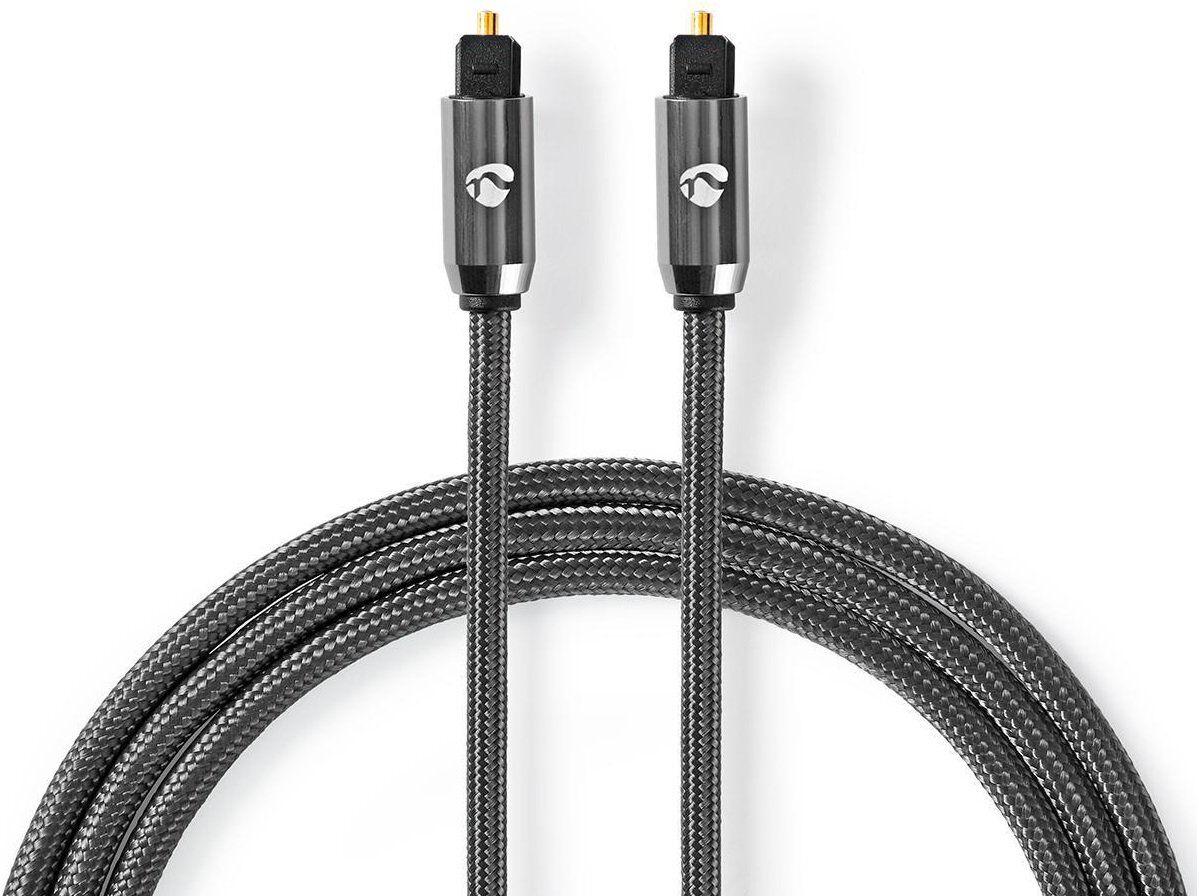 Nedis Optisk Toslink Digital Kabel - Metalgrå - 2 M