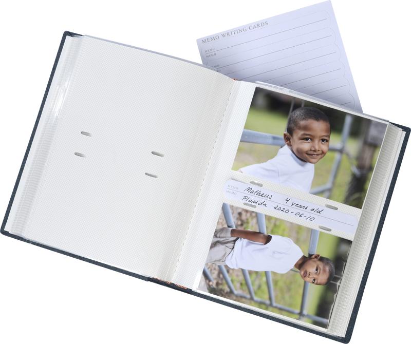 Focus Fotoalbum Base Line Canvas Super - 200 Billeder - 10x15 - Grå