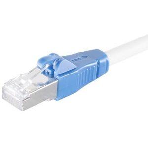 """Cat 6a S/ftp Lszh """"Easy Pull"""" Netværkskabel - Hvid - 1 M"""