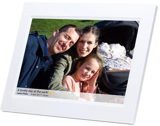 """Denver Pff-1010white Digital Fotoramme - Frameo - 10"""" - Hvid"""