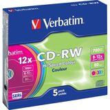 Verbatim Cd-Rw 700mb (12x) - 5 Stk