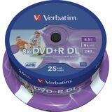 Verbatim DVD+R DL 8,5GB (8x) - 25 stk