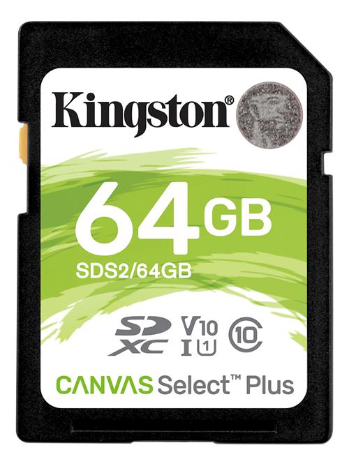 Kingston Canvas Select Plus Sdxc Kort - 64 Gb - Class 10