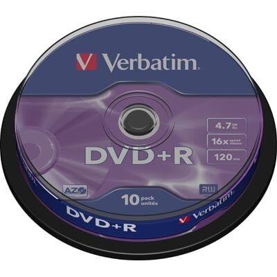 Verbatim Dvd+r 4,7gb (16x) - 10 Stk