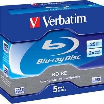 Verbatim Blu-Ray Bd-Re (2x) 25gb - 5 Stk