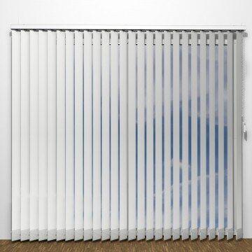 UNIG BASIC Lamelgardiner - Hvid - U1450 (12 Cm X 10 Cm)