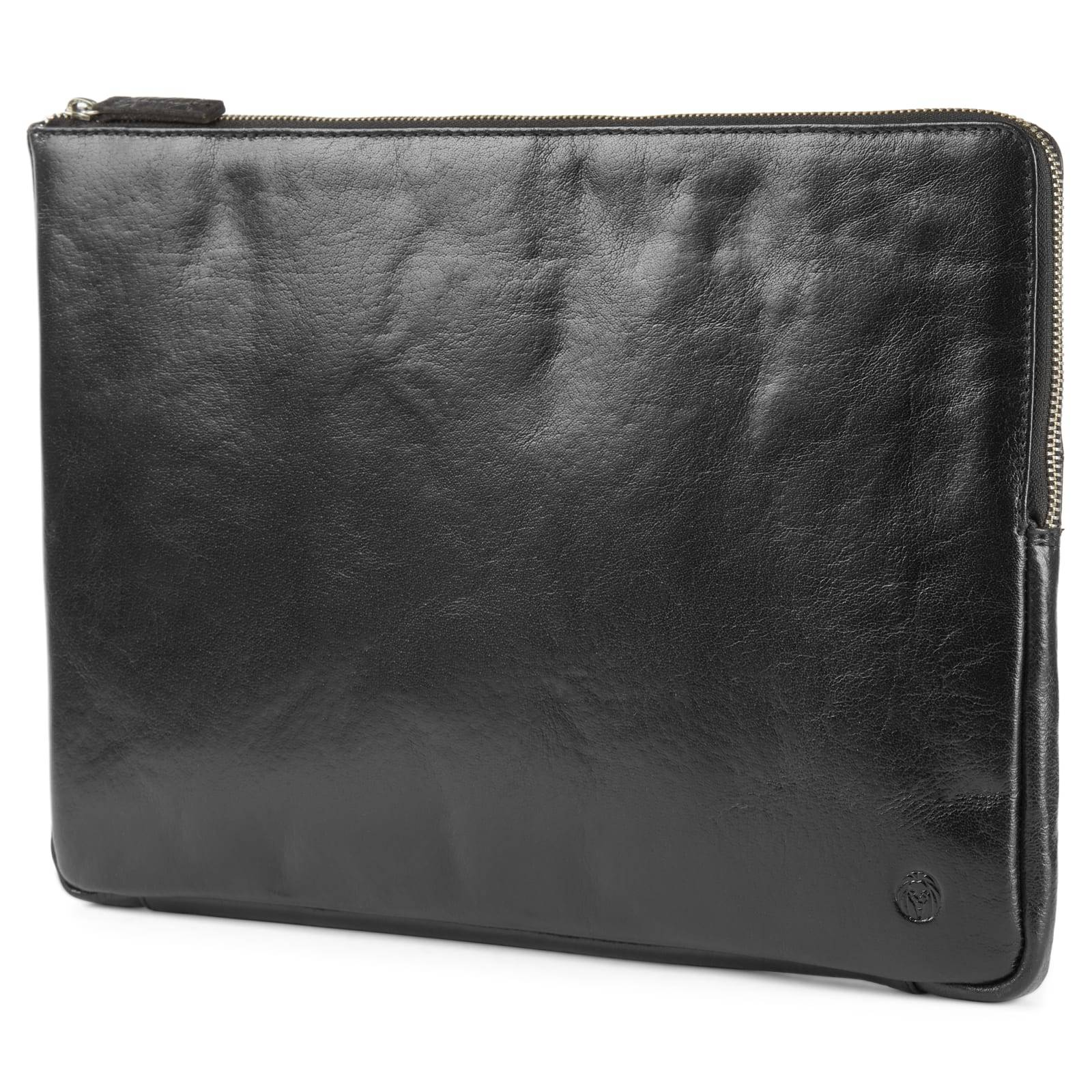 Lucleon California Smal Laptop Sleeve i Sort Læder