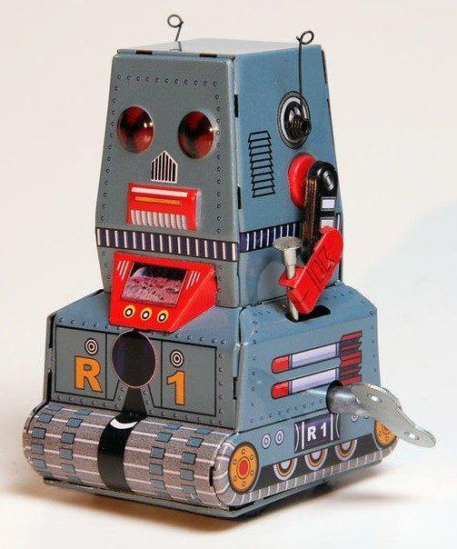 False Mekanisk robot i metal