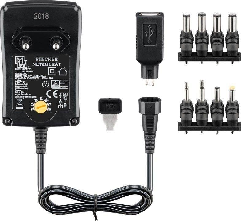 Goobay 18 Watts AC-adapter universal (3-12 Volt)