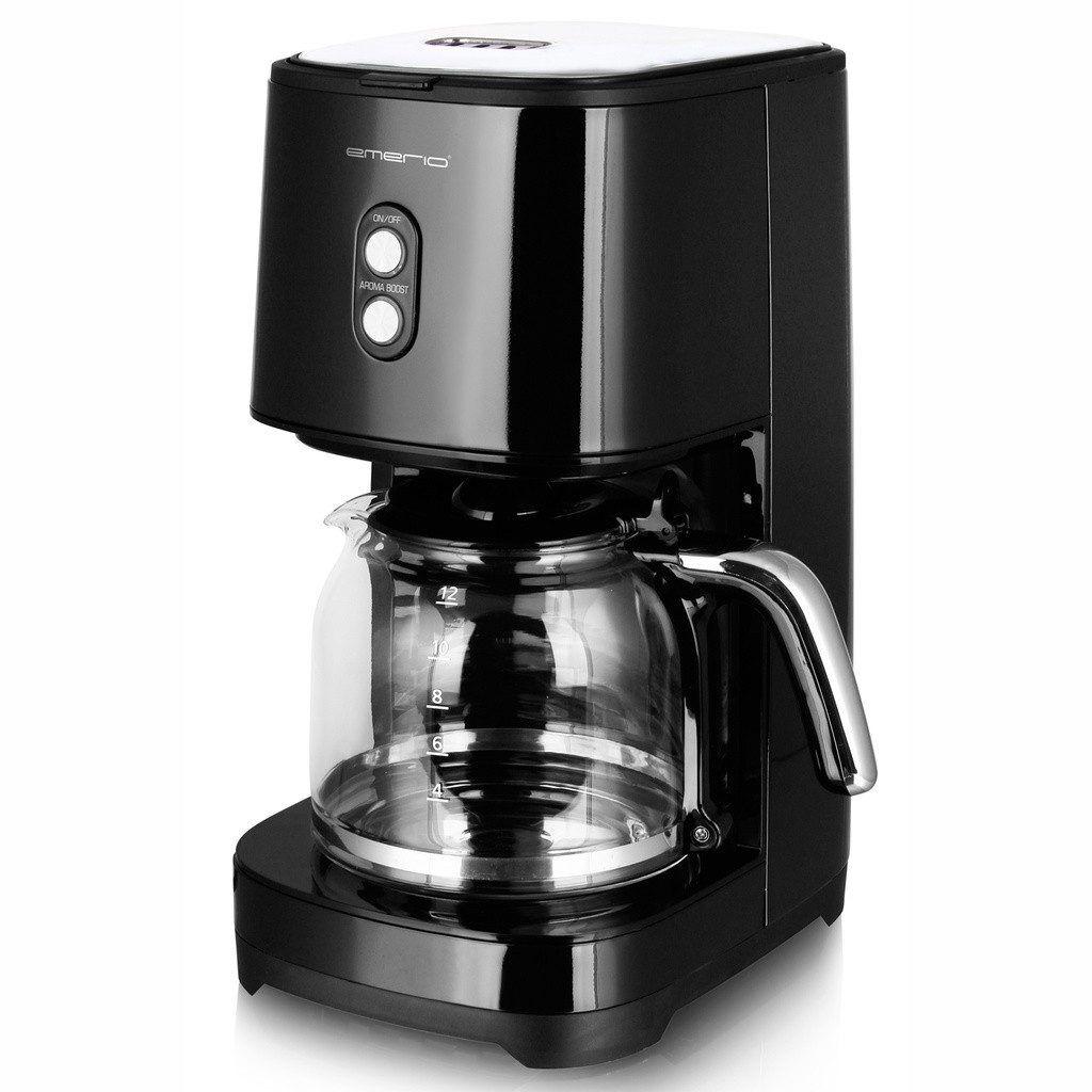 Emerio Kaffebryggare Retro Black 1,5L 900 Watt i svart