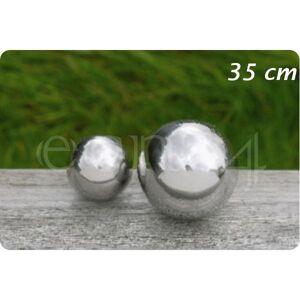 Boltze Pyntekugle af rustfrit stål til have eller dam 35 cm