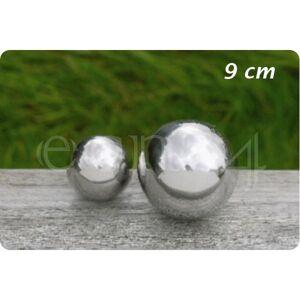 Boltze Pyntekugle af rustfrit stål til have eller dam 9,0 cm