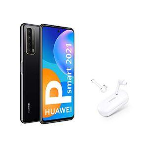 Huawei P smart 2021 + FreeBuds 3i - Smartphone de 6,67 pulgadas Full HD, 4GB de RAM y 128 GB de ROM, 5000 mAh de batería, Cuádruple cámara 48 MP, negro [Versión ES/PT]