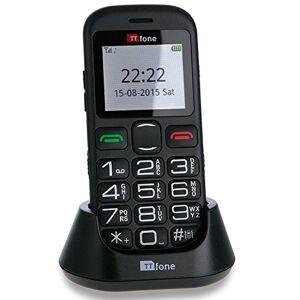 TTfone Jupiter 2 TT850 - Teléfono Libre (Botones Grandes, botón de Emergencia y Base de Carga)